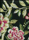 Galleria Lotus Blossom Ebony Wallpaper 1601/914 By Prestigious Wallcoverings